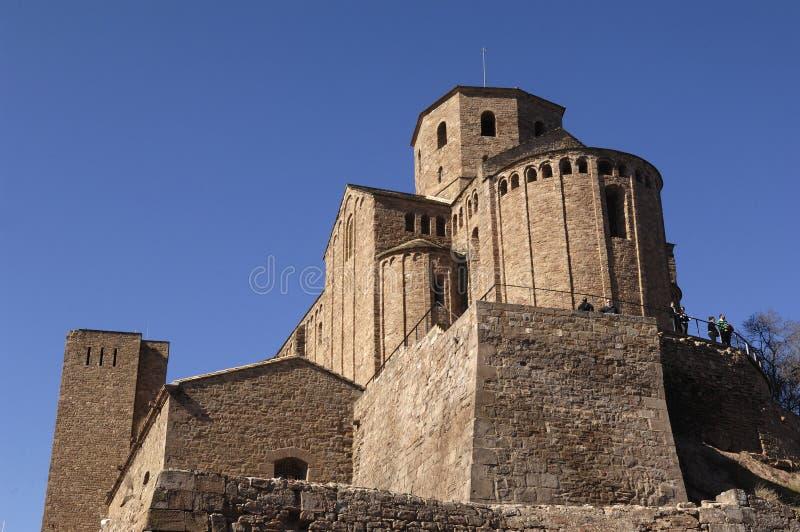 Uczelniany kościół Sant Vicenç, Cardona, Bages, Lleida, Catal fotografia stock