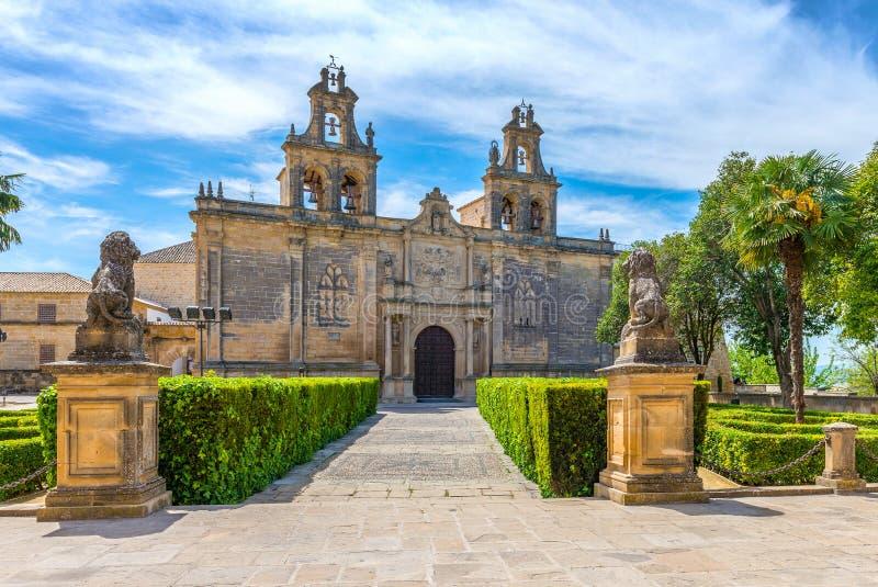 Uczelniany kościół Santa marÃa De Los Reales alcà ¡ zares zdjęcie royalty free