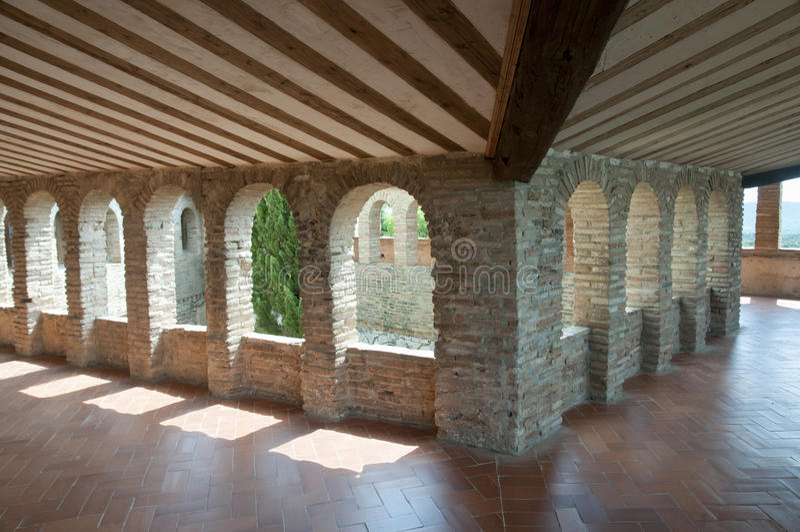 Uczelniany kościół Santa Maria, Alquezar, Hiszpania - obrazy stock