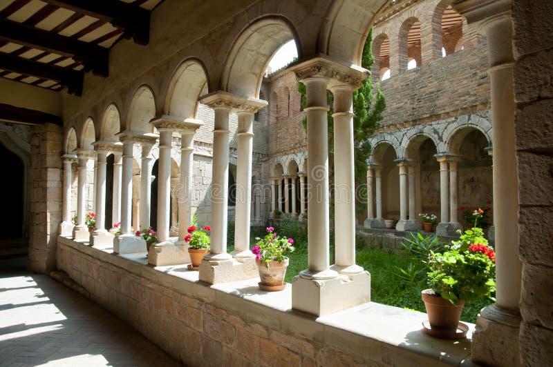 Uczelniany kościół Santa Maria, Alquezar, Hiszpania - zdjęcia stock