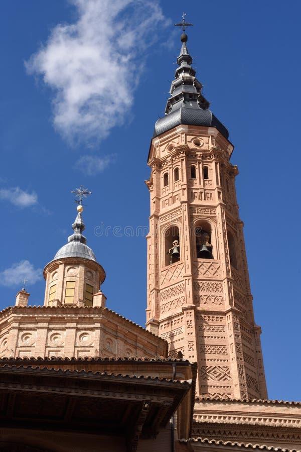 Uczelniany kościół Santa Maria losu angeles Mayor, Calatayud Zaragoza p zdjęcia royalty free