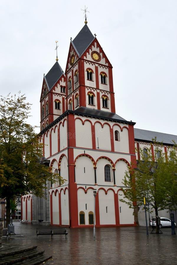 Uczelniany kościół St Bartholomew, Liege, Belgia obrazy royalty free