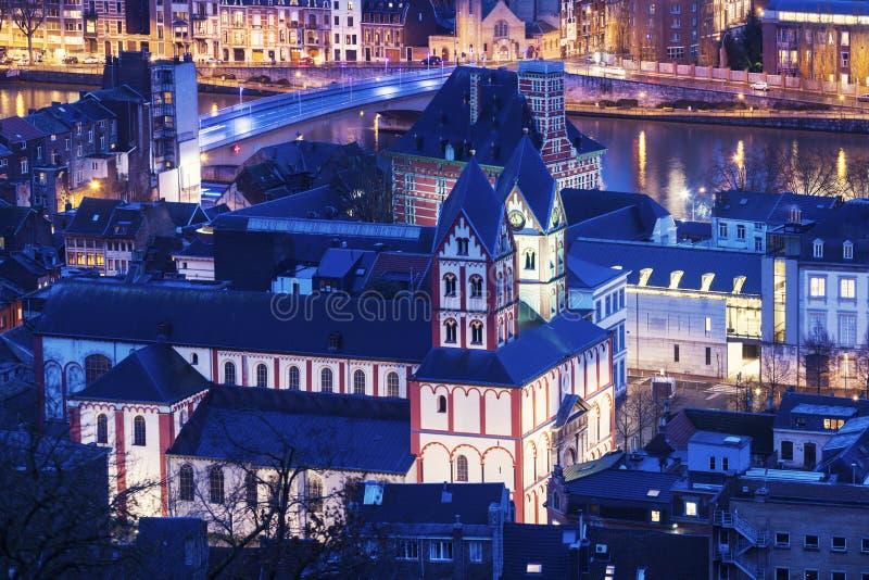 Uczelniany kościół St Bartholomew w Liege obraz stock