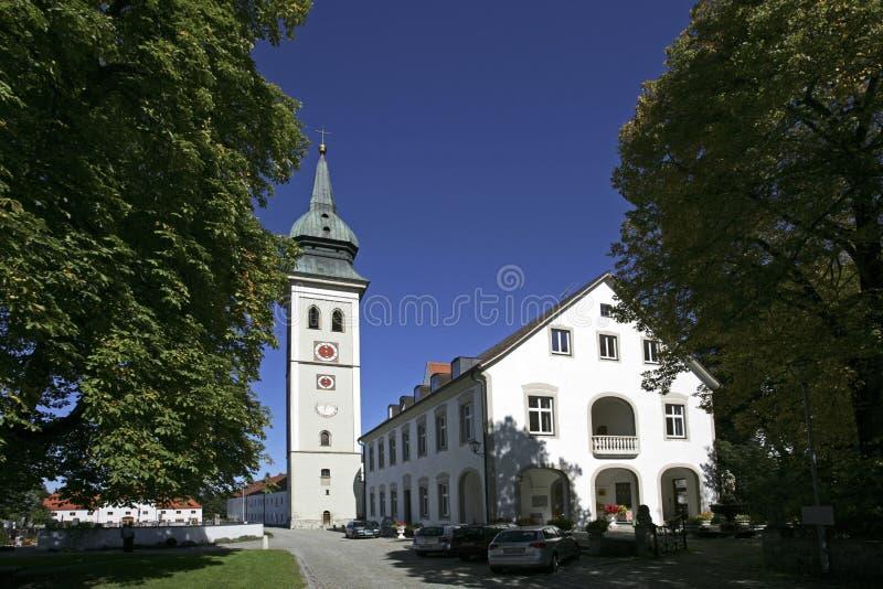 Uczelniany kościół w Rottenbuch, Bavaria fotografia stock