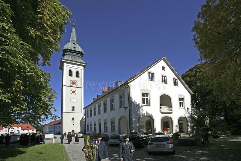 Uczelniany kościół w Rottenbuch, Bavaria obraz royalty free