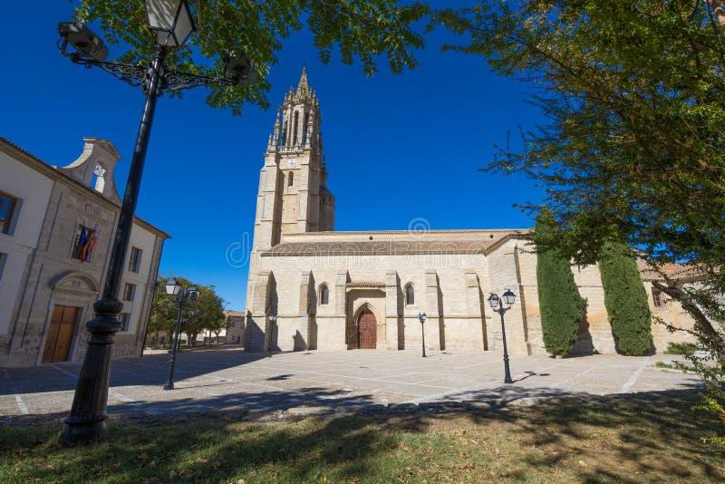 Uczelniany San Miguel w Ampudia wiosce fotografia stock