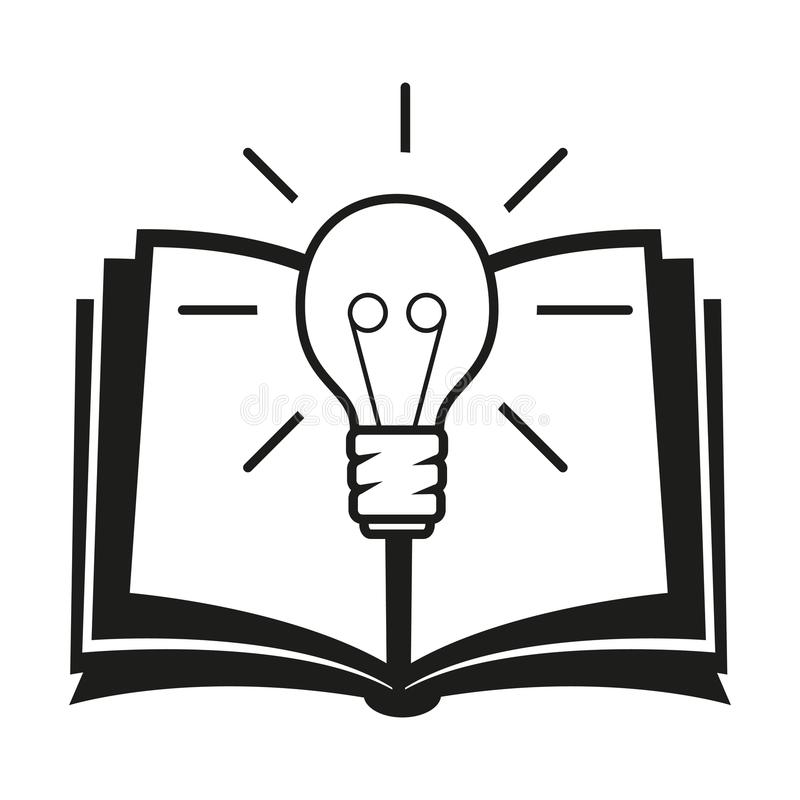 Uczenie ikona, wektorowa ilustracja royalty ilustracja