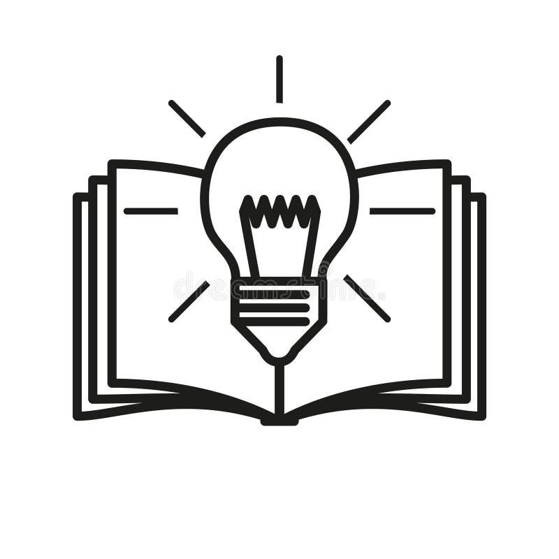 Uczenie ikona, wektorowa ilustracja ilustracji