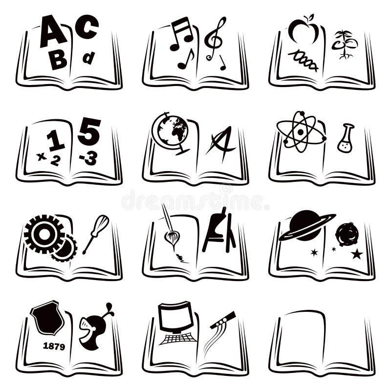 Uczenie ikony ilustracji