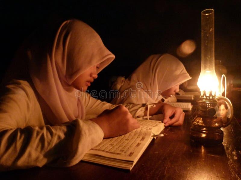 Uczenie Koran zdjęcie stock