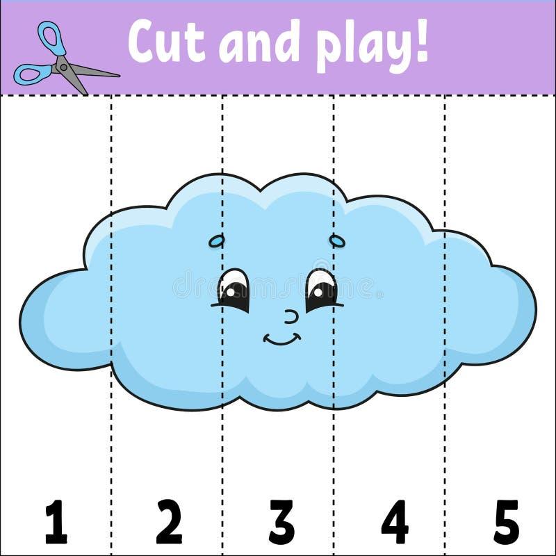 uczenie liczby rżnięta sztuka Edukacji rozwija worksheet gemowi dzieciaki Aktywności strona Łamigłówka dla dzieci Rzeszoto dla royalty ilustracja
