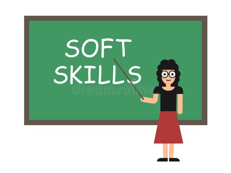 Uczenie miękkiej części umiejętności ilustracja wektor