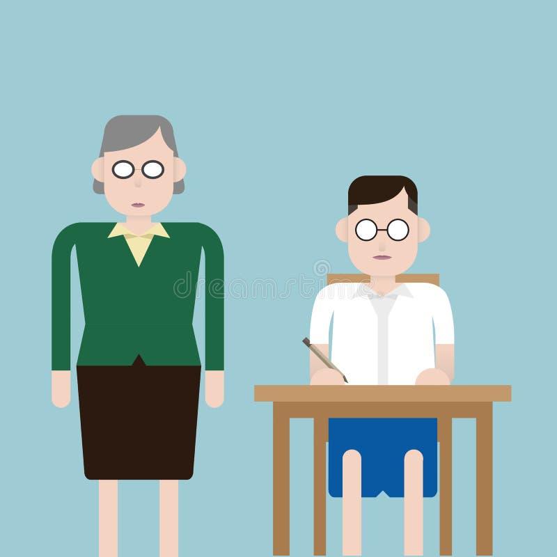 Uczenie sala lekcyjna ilustracji