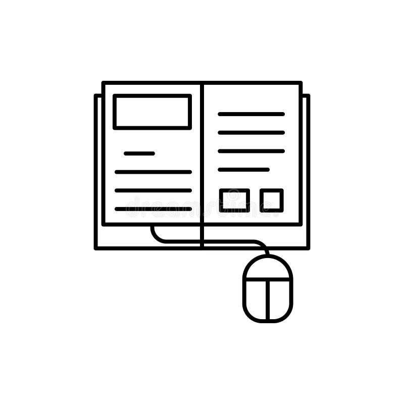 Uczenie, wideo tutorials, śmieszy ikonę Element edukacji linii ikona ilustracji