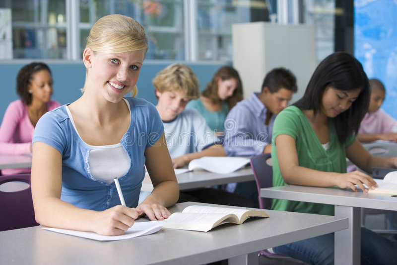 uczennica szkoły średniej klasy zdjęcie stock
