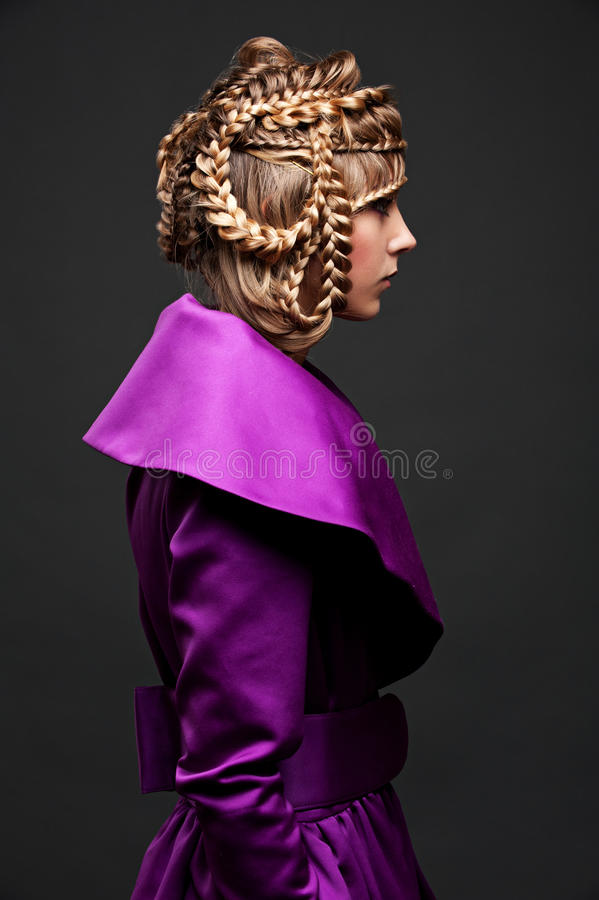 uczesanie piękny model obrazy royalty free