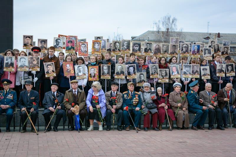 Uczestnicy akcja nieśmiertelny pułk zdjęcie stock