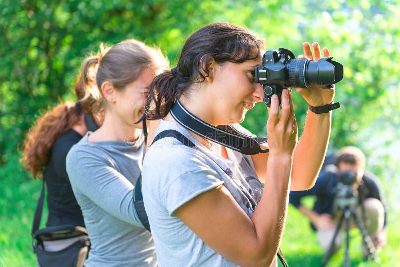 Uczestnicy w fotografia kursie zdjęcie stock