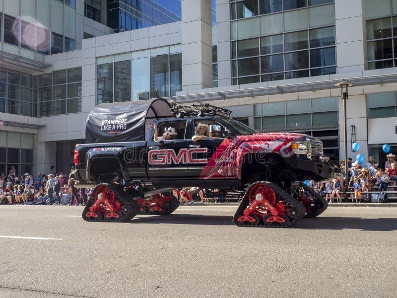 Uczestnicy w sławnej Calgary paniki paradzie fotografia royalty free