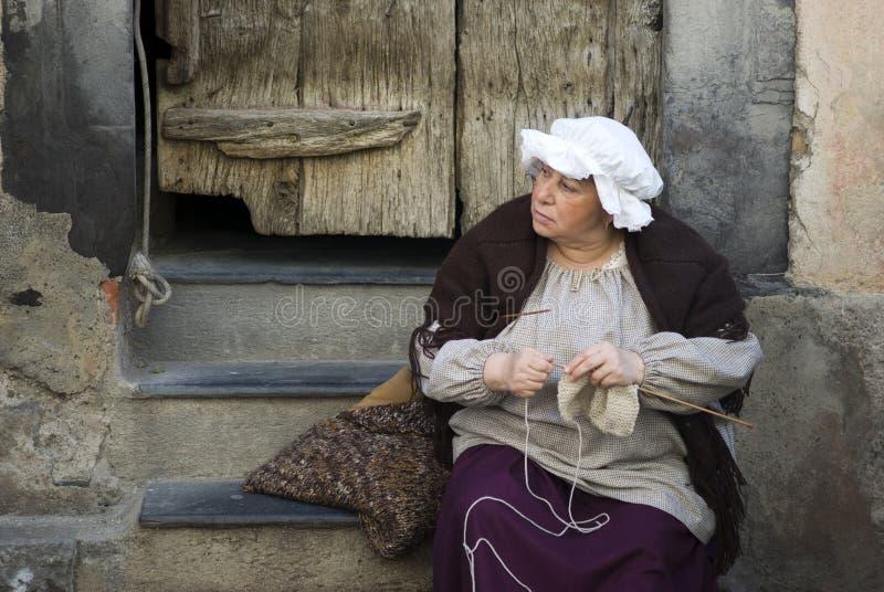 uczestnika kostiumowy średniowieczny przyjęcie zdjęcia royalty free