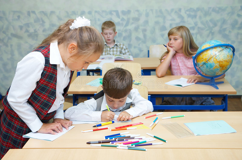 uczniów klasy zdjęcia stock