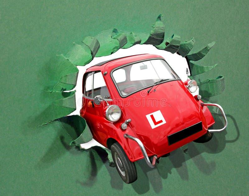 Ucznia kierowcy testa przepustki napędowych talerzy wolności podróży drogowy samochód zdjęcia stock