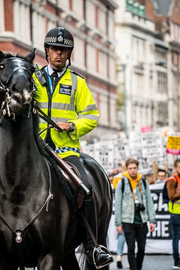 Ucznia protest przeciw edukacj opłatom i cięciom - Londyn, UK zdjęcia royalty free