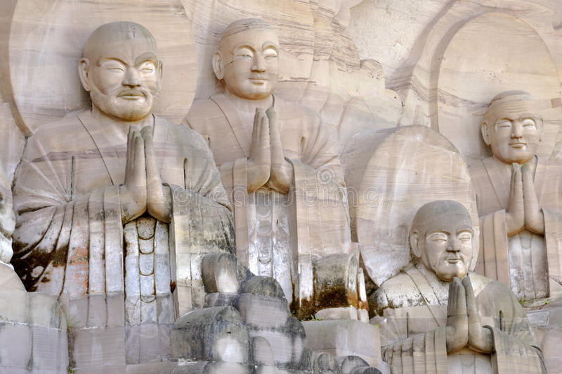 Ucznie Shakyamuni Buddha fotografia royalty free