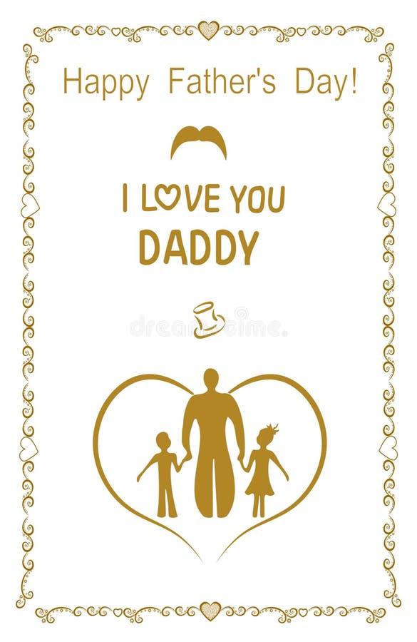 Uczta dzień ojciec Sztandar, rama, pocztówka, plakat, wektorowa ilustracja EPS 8 ilustracja wektor