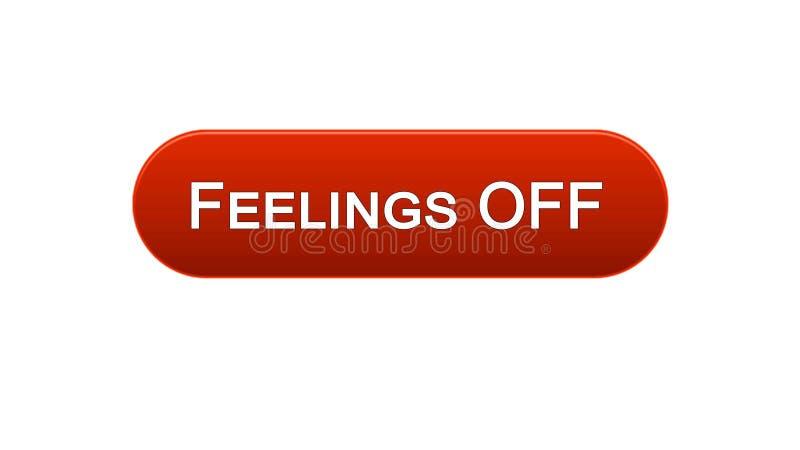 Uczucia z sieć interfejsu zapinają zatrzaśniętego z mysz kursorem, czerwony kolor, online ilustracji