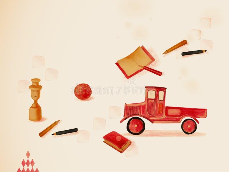 Uczyć się przez sztuki. Zabawki royalty ilustracja