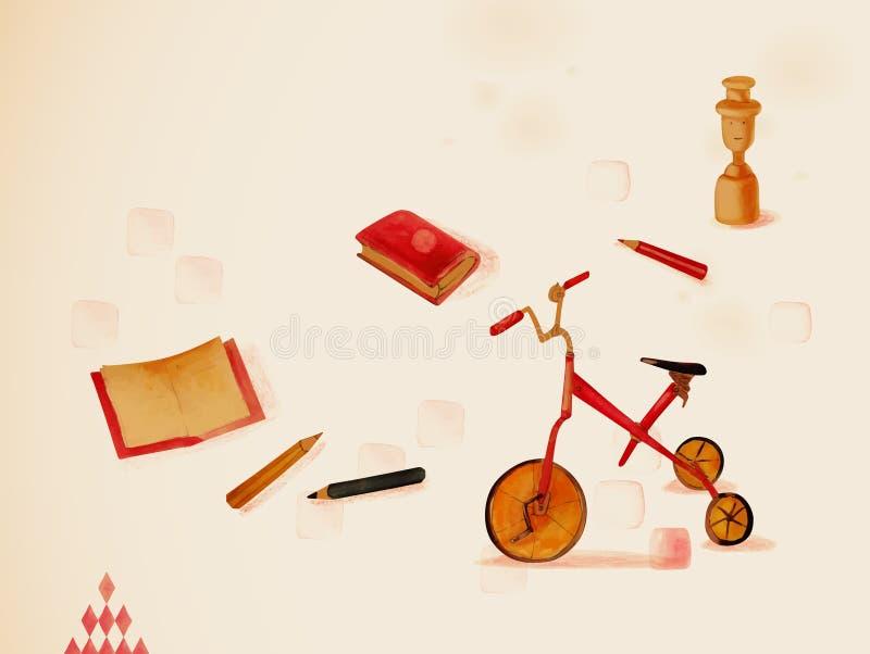 Uczyć się przez sztuki. Zabawki ilustracji
