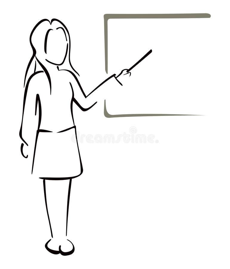 Uczyć w klasie royalty ilustracja