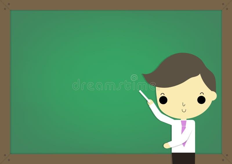 Uczy i blackboard royalty ilustracja