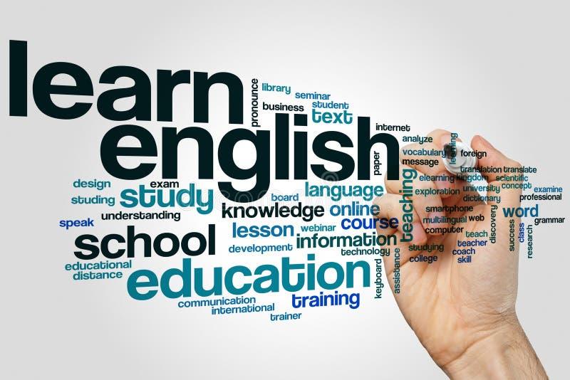 Uczy się anglika słowa chmurę ilustracji