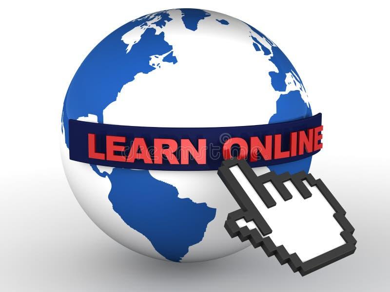 Uczy się online ilustracja wektor