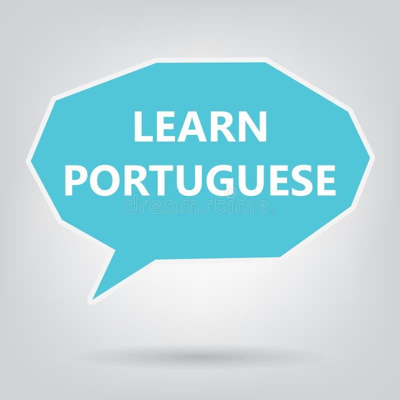 Uczy się portuguese pisać na mowa bąblu royalty ilustracja