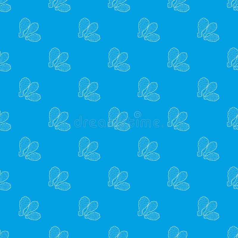 Uda deseniują wektorowego bezszwowego błękit royalty ilustracja