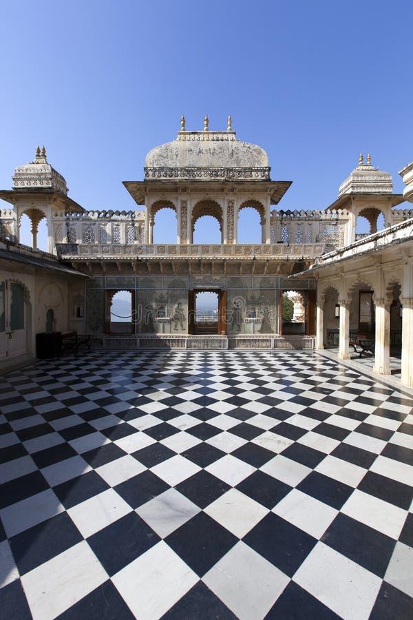 Udaipur市宫殿 库存图片