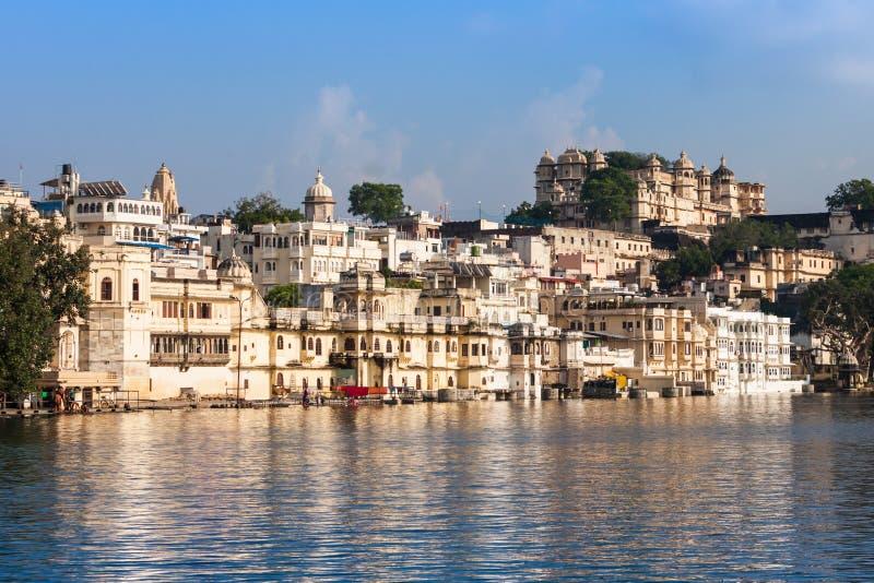 Udaipur市宫殿 免版税图库摄影