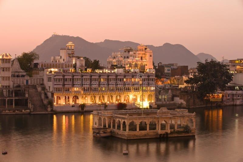 udaipur дворца Индии стоковые изображения rf