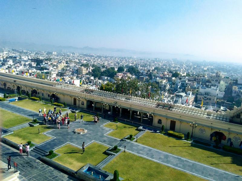 Udaipur fort view, Rajasthan, India royalty free stock photography