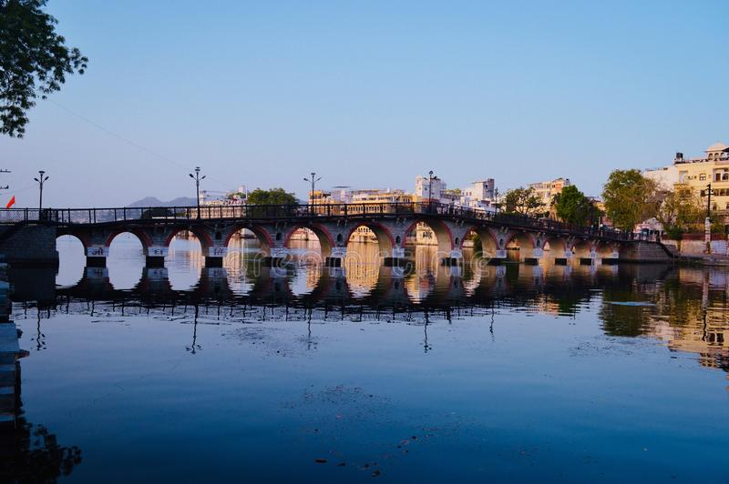 Udaipur_the_Lake_city stock afbeeldingen