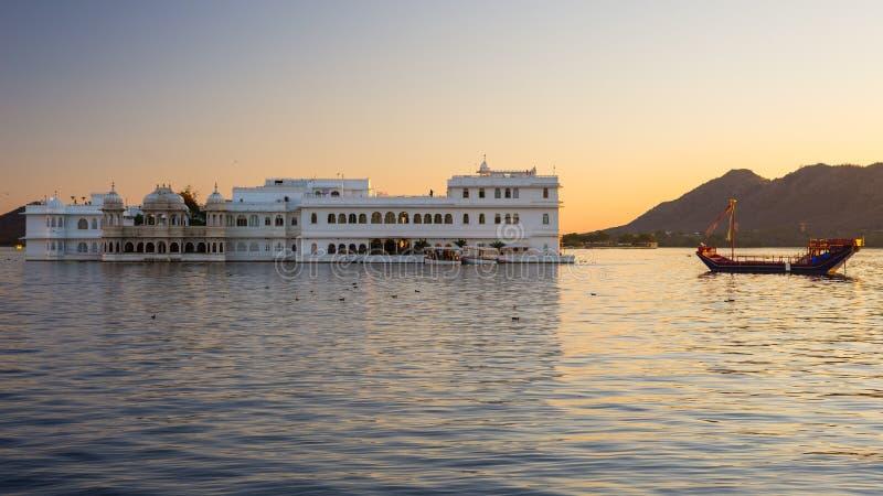 Udaipur, reisbestemming en toeristische attractie in Rajasthan, India stock afbeelding