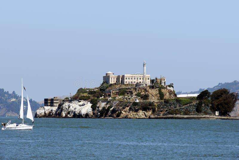 /udamy się na wyspę alcatraz! obraz stock