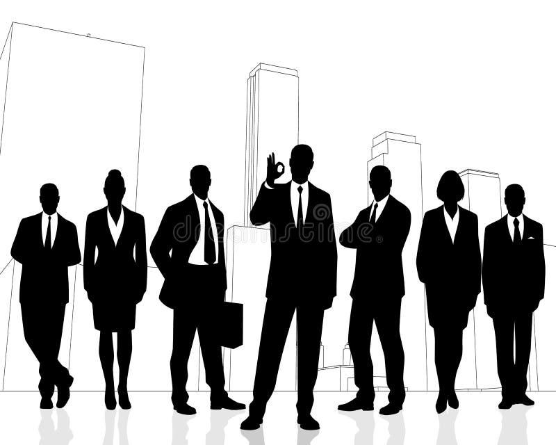 udana drużyna jednostek gospodarczych ilustracji