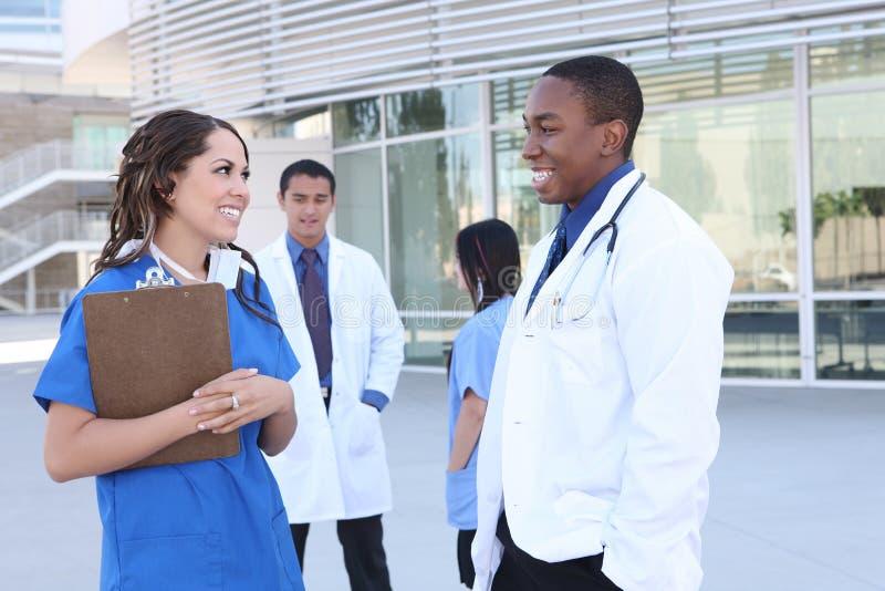 udana drużyna medyczna szczęśliwa obraz stock