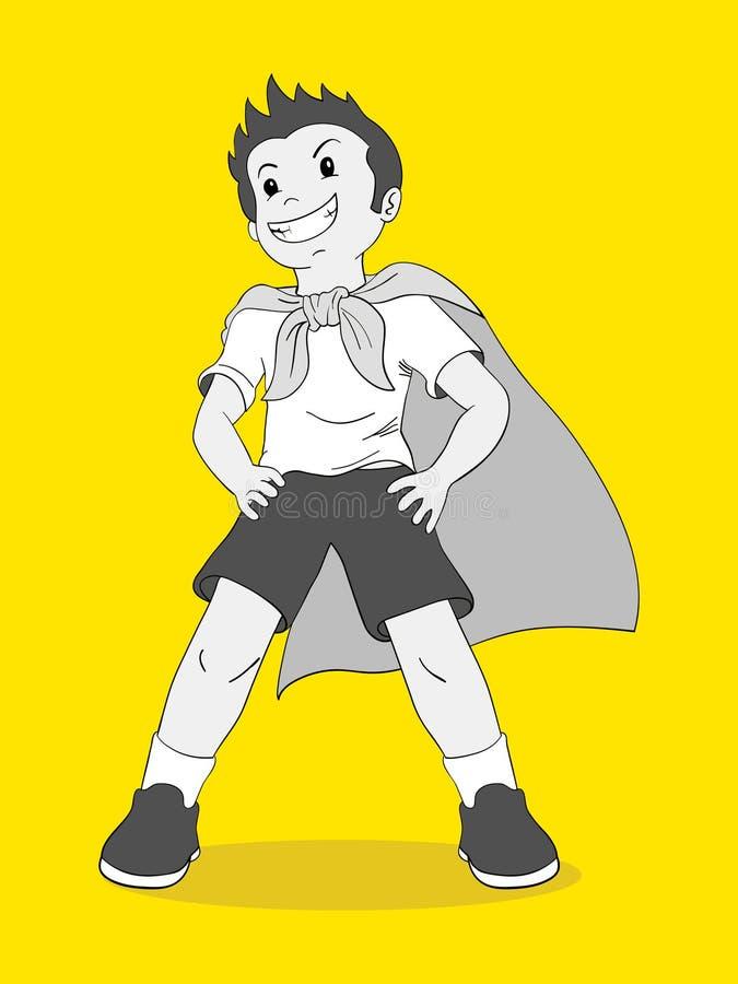 Udawać być bohaterem royalty ilustracja