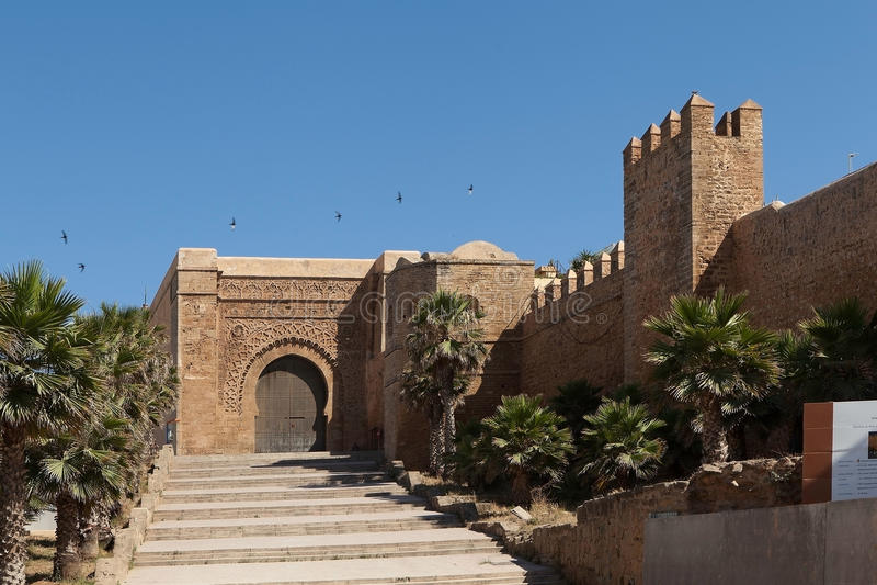 Udaya Kasbah fortress gates. Rabat. royalty free stock photo