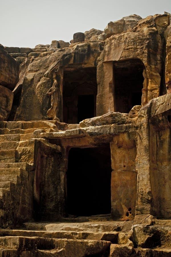 Udayagiri-Höhlen stockfotografie